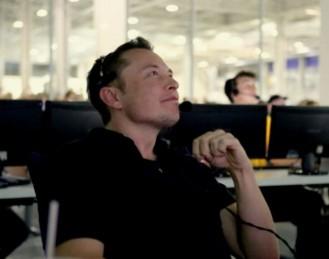 Musk at his Falcon lift-off