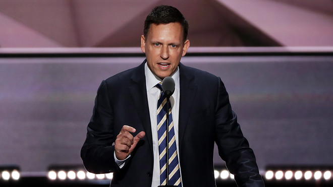 OnetoZeroPeterThiel made the weird decision to speak in favour of The Trump